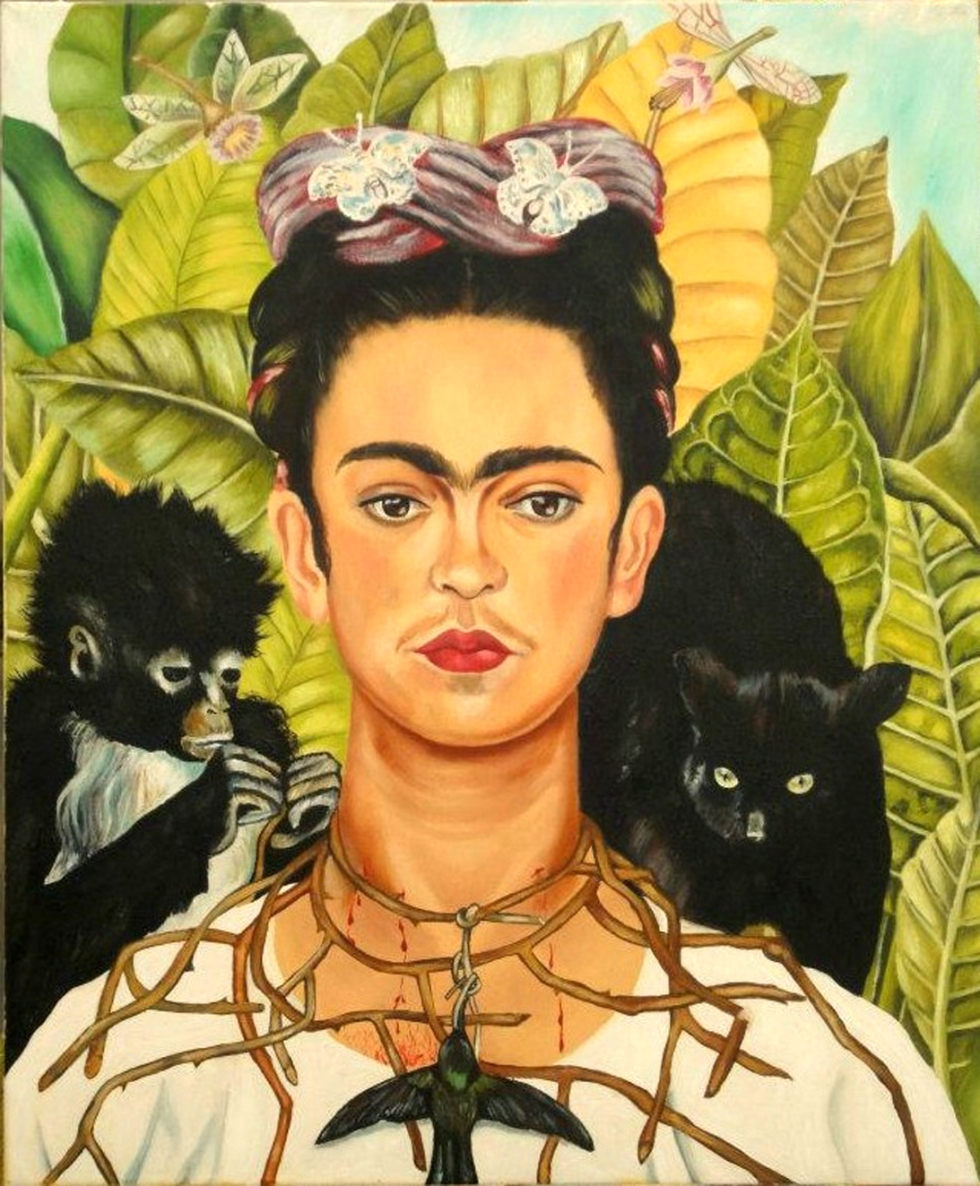 Autoritratto corana spine Frida-Kahlo